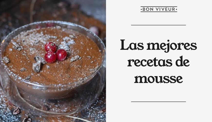 Las mejores recetas de mousse